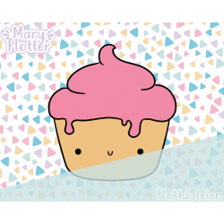 Kawaii Cupcake Plotterdateien