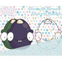Olive mit Mandel Digital Stamp