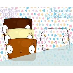 Schokoladenstück Digital Stamp