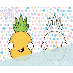 Ananas Digital Stamp