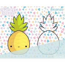 Kawaii Ananas Digital Stamp