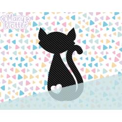 Katzen-Silhouette...